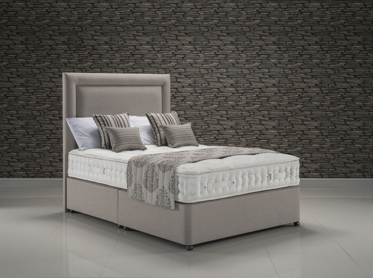Majesty Pillowtop upholstered in Faux Linen Stone