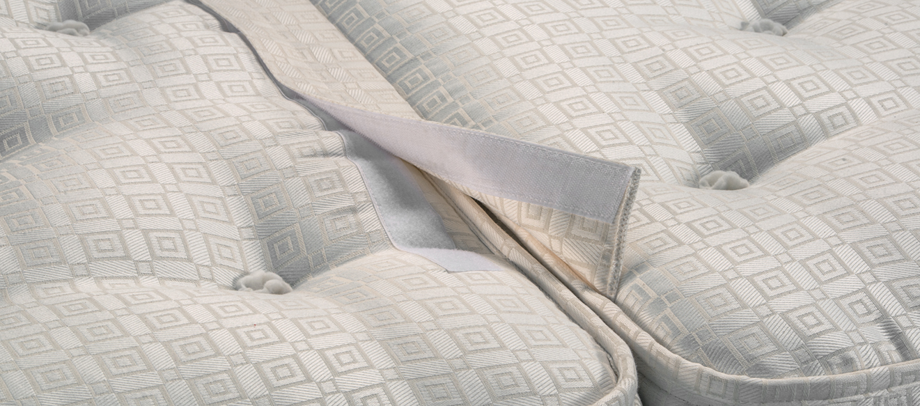 Zip and link or velcro and link option to join mattresses into a pair
